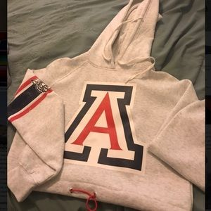 U of A Crop Top Hoodie NWT